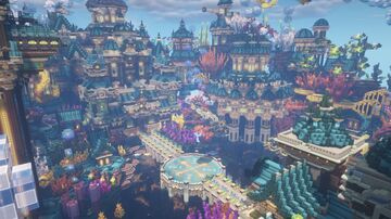 Cinematic  City under the sea Minecraft Map & Project