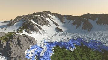Glacier Mountain - 1k Minecraft Map & Project
