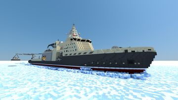 Icebreaker carrying cruise missiles - TPB-8000 Minecraft Map & Project