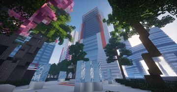 Futuristic office complex Minecraft Map & Project