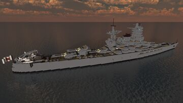 IJN Kaga - Tosa-Class Battleship (1940s Modernisation) Minecraft Map & Project