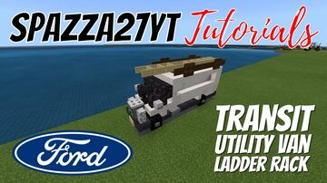 Ford Transit Utility Van with Ladder Rack Minecraft Map & Project