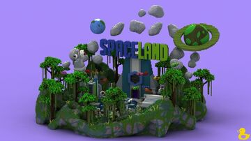SpaceLand Spawn Minecraft Map & Project