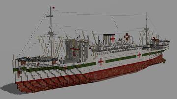 MV Hikawa Maru | Ocean Liner & Hospital Ship Minecraft Map & Project