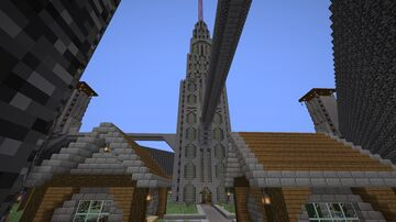 The Tower Surrounded by Water Minecraft Map & Project
