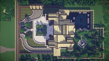 White Concrete Suburban Mansion Minecraft Map & Project