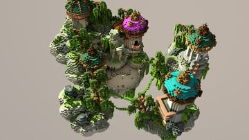 Floating temple lobby Minecraft Map & Project