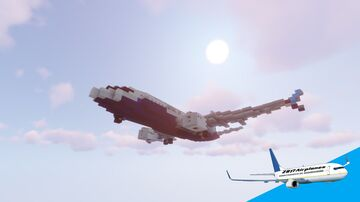 Boeing 737 MAX 7   DOWNLOAD Minecraft Map & Project