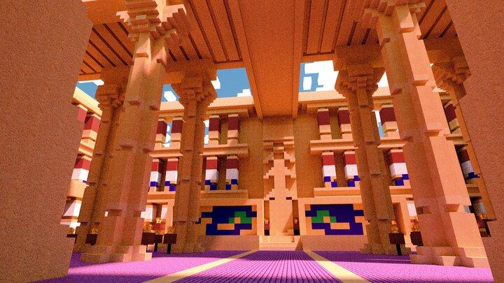 Pharaoh Atem throne room.