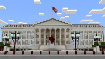 DEPARTMENT OF TREASURY BUILDING MCPE MAP Minecraft Map & Project