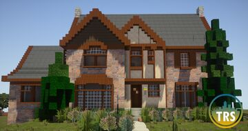 Victorian/Tudor Themed Residence | The Realism Society Minecraft Map & Project