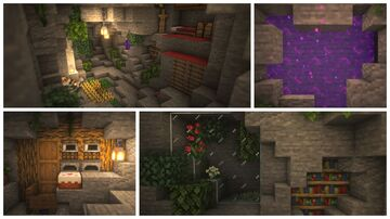 Transforming a Cave Into a House Minecraft Map & Project
