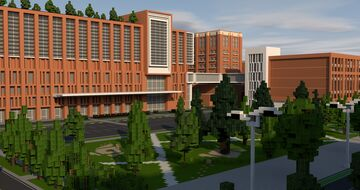 Esseytega Hospital, Voroshilovgrad. (Prototype: Christ Cincinnati Hospital) Minecraft Map & Project