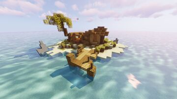 Isolated island Minecraft Map & Project