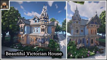 Minecraft showcase - Stunning Victorian House (Queen Anne Style) Minecraft Map & Project