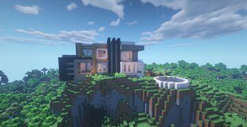 Modern House on the Mountain | Casa Moderna na Montanha Minecraft Map & Project