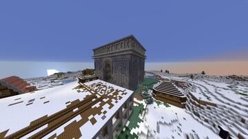 Social Republic of Antartico city gate Minecraft Map & Project