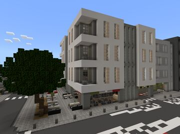 Small Modern Apartment Building Minecraft Map & Project