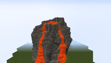 Giant volcane Minecraft Map & Project