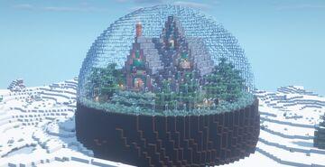Casa no Globo de Vidro | House on the Glass Globe Minecraft Map & Project