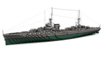 Fictional Dreadnought Battleship Indigestible (1:1) Minecraft Map & Project