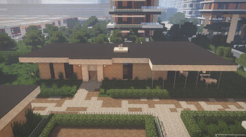 Maria Vet Clinic / Animal Shelter Minecraft Map & Project