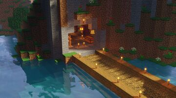 Cave Survival Base Minecraft Map & Project