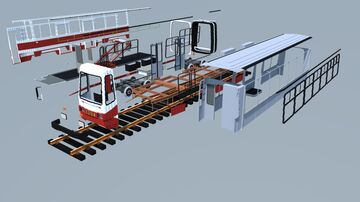 Disassembled tram Minecraft Map & Project