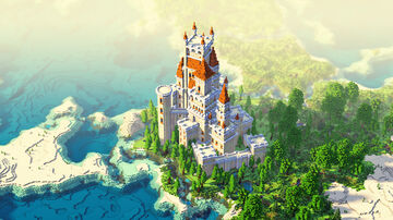 A Castle Minecraft Map & Project