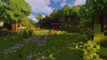 Cozy forest witch house Minecraft Map & Project