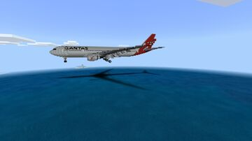 Airbus A330-200 landing Minecraft Map & Project