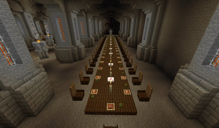 Throne room - dining table
