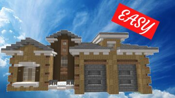 How to build a large suburban house in Minecraft - Mansion Tutorial #3 Minecraft Map & Project