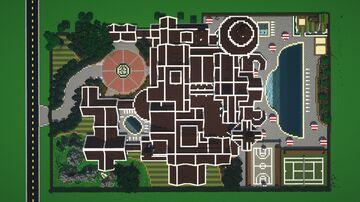 Grey Concrete Suburban Mansion Minecraft Map & Project