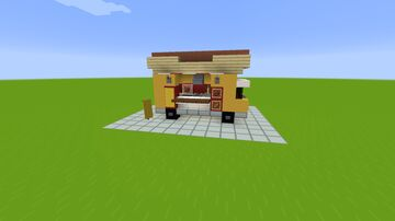 Hot Dog Food Truck Minecraft Map & Project