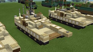 1.5:1 scale M1A2C Abrams Sep v3 Minecraft Map & Project