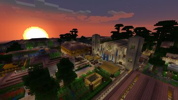 Caribbean themed city Minecraft Map & Project