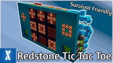 Minecraft Redstone Tic Tac Toe | Survival Friendly Minecraft Map & Project