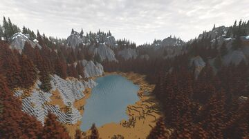 Lake in the Northern forest Minecraft Map & Project
