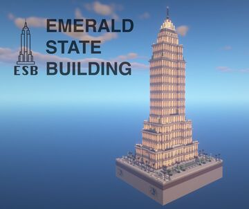 Empire State Building - Emerald State Building [1.14.4+] [NoMods] Minecraft Map & Project