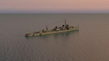 Hayanami | 1:1 Yugumo-class Destroyer Minecraft Map & Project