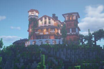 Spanish villa + Vineyard Minecraft Map & Project