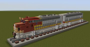 Santa Fe, Emd F7 Diesel locomotive [With Download] Minecraft Map & Project