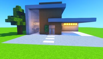 Small Compact Modern House Minecraft Map & Project