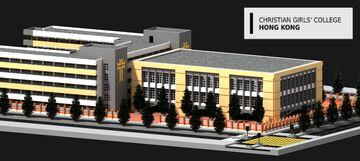 Private Christian Girls' College [2:1] - Conceptual Hong Kong High School【私立基督教女子中學】 Minecraft Map & Project