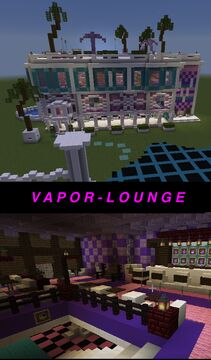 V A P O R - L O U N G E : Vaporwave in Minecraft Minecraft Map & Project