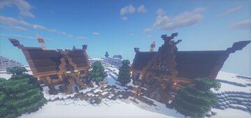 Vila Nórdica | Nordic Village Minecraft Map & Project
