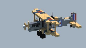 royal aircraft factory s.e.5a WW1 fighter  [With Download] Minecraft Map & Project