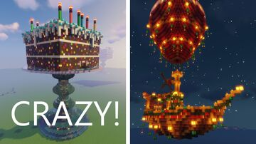 Funtazer's First Fiverr Job, Minecraft Airship and Cake Minecraft Map & Project