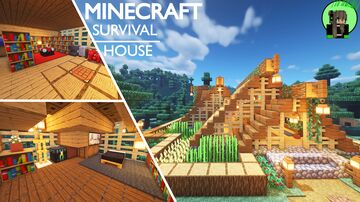 Wooden Survival House Minecraft Map & Project